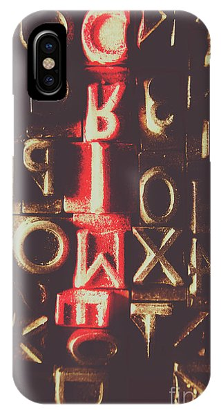 Ink iPhone Case - Type Of Criminal Evidence by Jorgo Photography - Wall Art Gallery