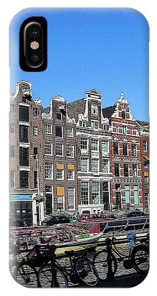 Typical Houses In Amsterdam IPhone Case