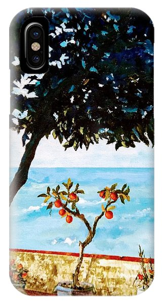 IPhone Case featuring the painting Typical Mediterranean by Ray Khalife