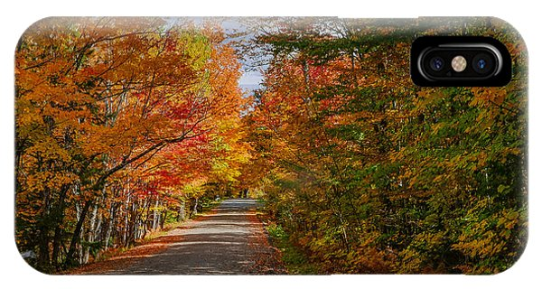 Typical Vermont Dirve - Fall Foliage IPhone Case