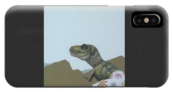 Figurative iPhone Case - Tyranosaurus Rex by Jasper Oostland