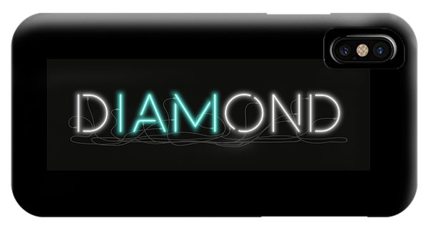 U Are Diamond - Neon Sign 1 IPhone Case