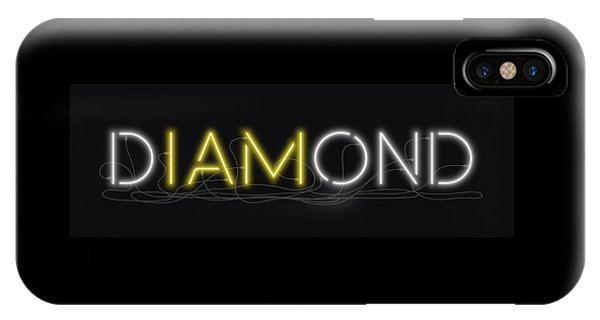 U Are Diamond - Neon Sign 2 IPhone Case