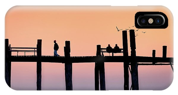 U-bein Bridge At Dawn IPhone Case