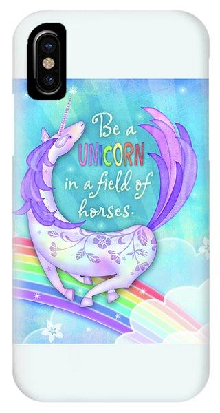 U Is For Unicorn IPhone Case