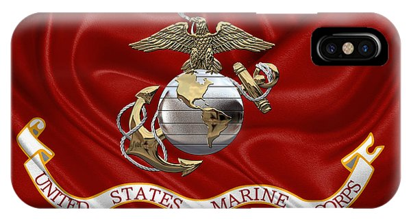 U. S.  Marine Corps - U S M C Eagle Globe And Anchor Over Corps Flag IPhone Case