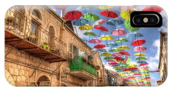 Umbrellas Over Jerusalem IPhone Case