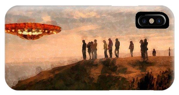 Strange iPhone Case - Ufo Spotting by Esoterica Art Agency