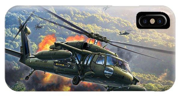 Helicopter iPhone X Case - Uh-60 Blackhawk by Stu Shepherd