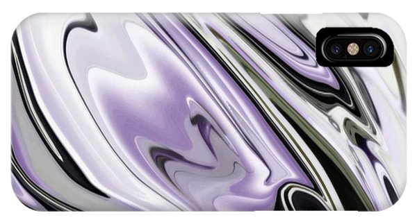 Swanky iPhone Case - Ultra Violet Silver And Lilac Abstract Marble Vector by Taiche Acrylic Art