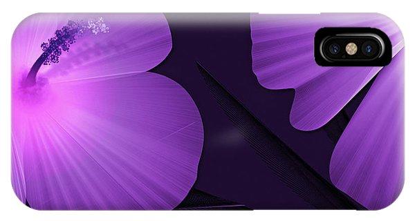 Ultraviolet Hibiscus Tropical Nature Print  IPhone Case