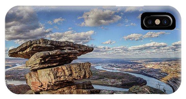 Umbrella Rock Overlooking Moccasin Bend IPhone Case
