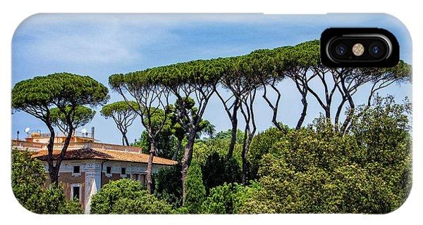 Umbrella Trees In Rome IPhone Case