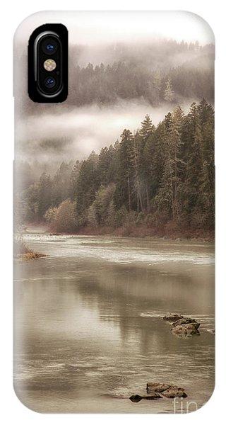 Umpqua River Fog IPhone Case