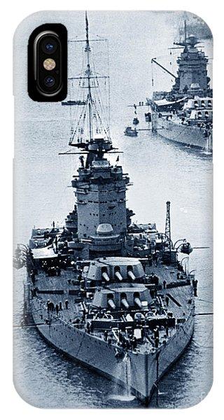 Hms Nelson And Hms Rodney Battleships And Battlecruisers Hms Hood Circa 1941 IPhone Case