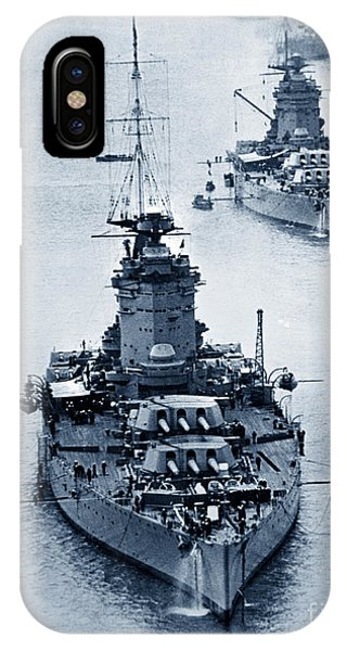 Hms Nelson And Hms Rodney Battleships And Battlecruisers Hms Hood Circa 1941 IPhone Case