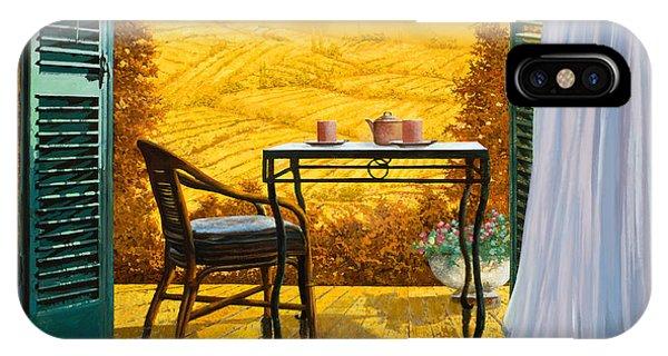 Chair iPhone Case - Un Caldo Pomeriggio D by Guido Borelli