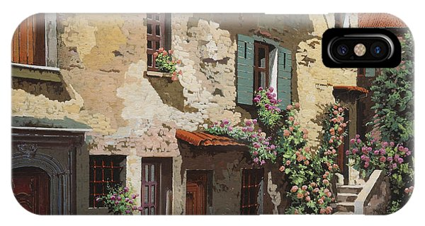 Village iPhone Case - Un Cielo Improbabile by Guido Borelli