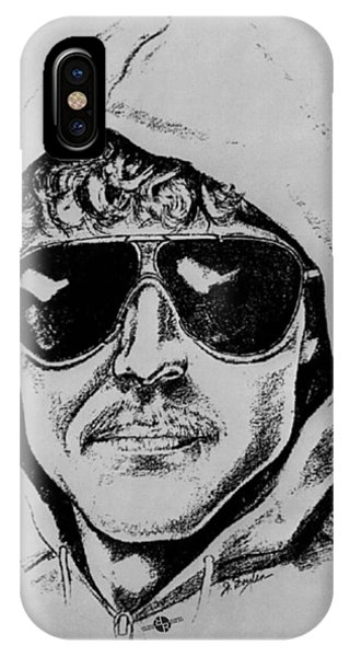 Unabomber Ted Kaczynski Police Sketch 1 IPhone Case