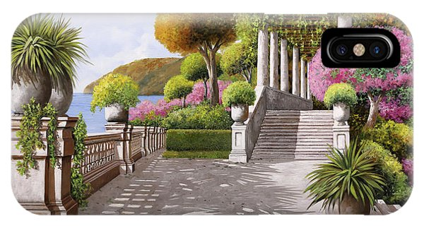 Columns iPhone Case - Un'altra Scalinata by Guido Borelli