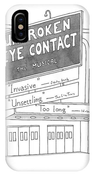 Unbroken Eye Contact The Musical IPhone Case