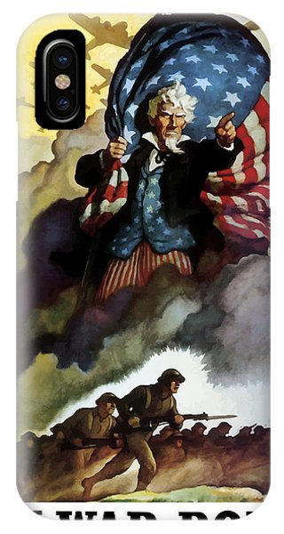 American iPhone Case - Uncle Sam - Buy War Bonds by War Is Hell Store