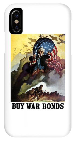 Political iPhone Case - Uncle Sam - Buy War Bonds by War Is Hell Store