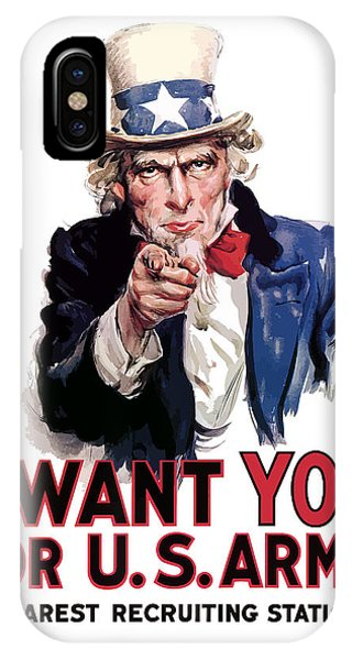 American iPhone Case - Uncle Sam -- I Want You by War Is Hell Store