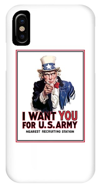 Political iPhone Case - Uncle Sam -- I Want You by War Is Hell Store