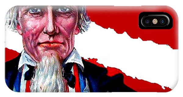 4th July iPhone Case - Uncle Sam by Marianne Dow