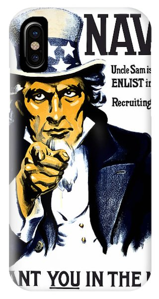 Americana iPhone Case - Uncle Sam Wants You In The Navy by War Is Hell Store