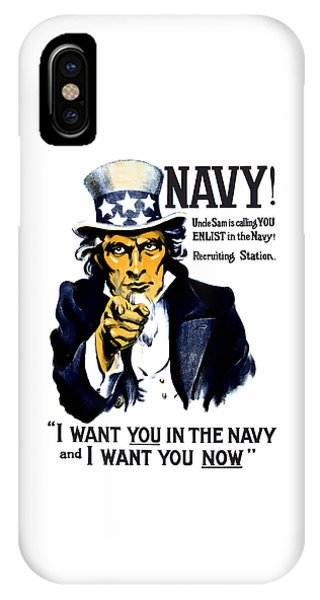 Political iPhone Case - Uncle Sam Wants You In The Navy by War Is Hell Store