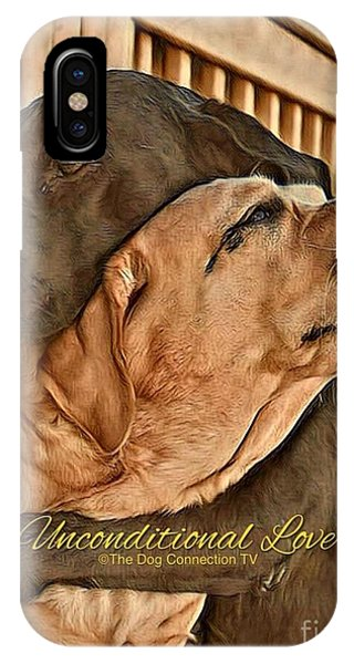 IPhone Case featuring the digital art Unconditional Love by Kathy Tarochione