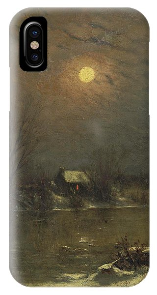 Jervis iPhone Case - Under A Full Moon by Jervis McEntee