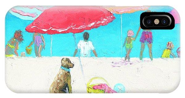 Under A Red Umbrella IPhone Case