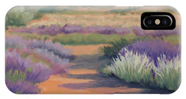 Under A Summer Sun In Lavender Fields IPhone Case
