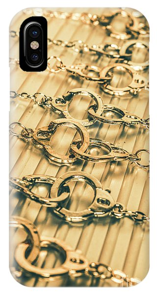 Necklace iPhone Case - Under Arrest by Jorgo Photography - Wall Art Gallery