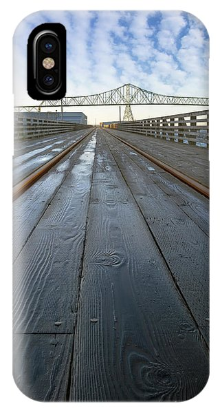 Under Astoria Megler Bridge On Riverwalk IPhone Case
