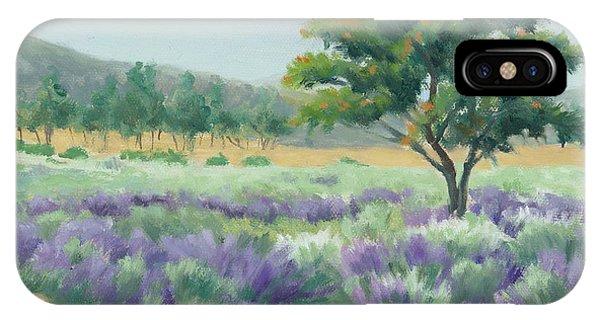 Under Blue Skies In Lavender Fields IPhone Case