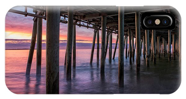Orchard Beach iPhone Case - Under Old Orchard Pier by T-S Fine Art Landscape Photography