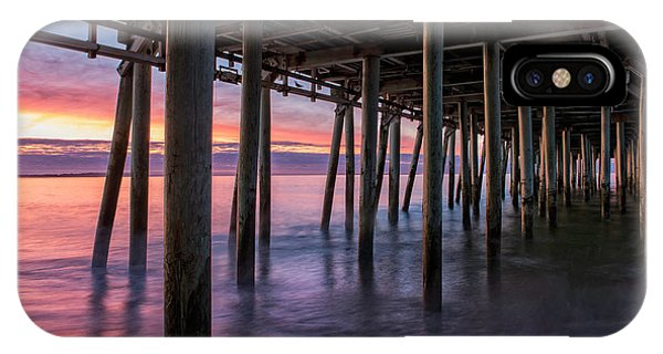 IPhone Case featuring the photograph Under Old Orchard Pier by Expressive Landscapes Fine Art Photography by Thom