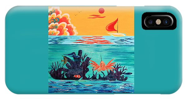 Bright Coral Reef IPhone Case