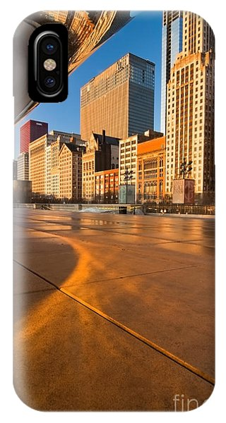 Under The Bean And Chicago Skyline At Sunrise IPhone Case