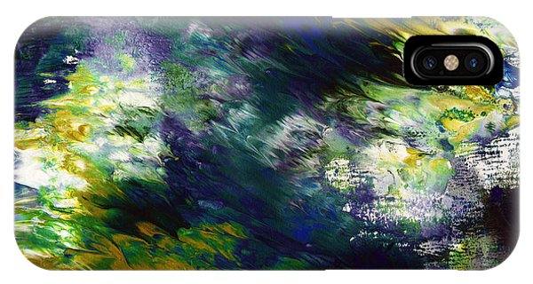 Mustard iPhone Case - Under The Canopy 2- Abstract Art By Linda Woods by Linda Woods