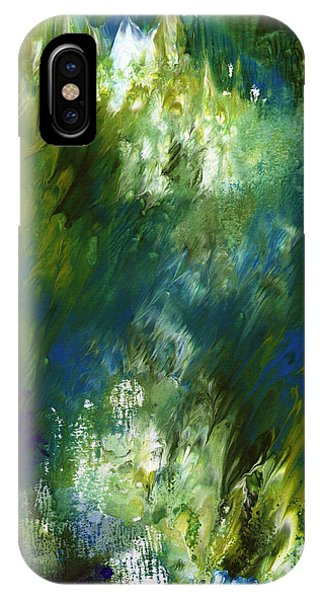 Purple iPhone Case - Under The Canopy- Abstract Art By Linda Woods by Linda Woods