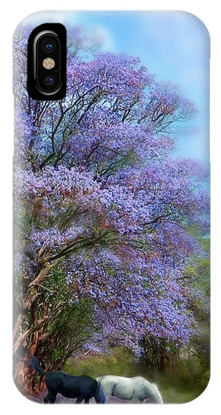 Under The Jacaranda IPhone Case