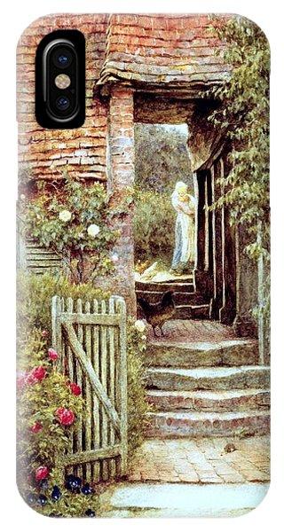 English Village iPhone Case - Under The Old Malthouse Hambledon Surrey by Helen Allingham