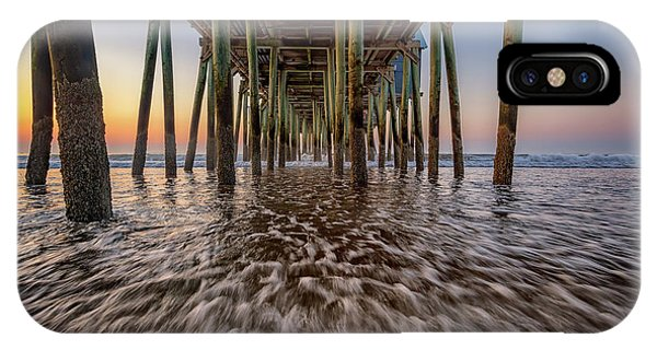 Orchard Beach iPhone Case - Under The Pier At Old Orchard Beach by Rick Berk