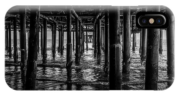Under The Pier - Black And White IPhone Case