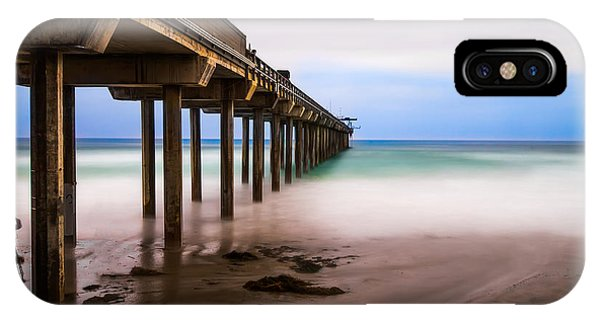 Scripps Pier iPhone Case - Under The Pier by Larry Marshall